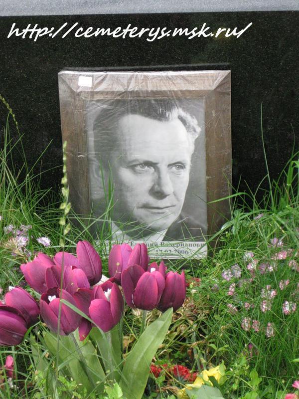 могила Евгения Самойлова на Ваганьковском кладбище в Москве ( фото Дмитрия Кондратьева)
