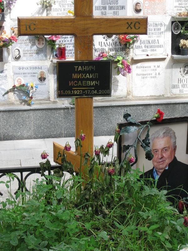 могила Михаила Танича до установки памятника ( фото Дмитрия Кондратьева)