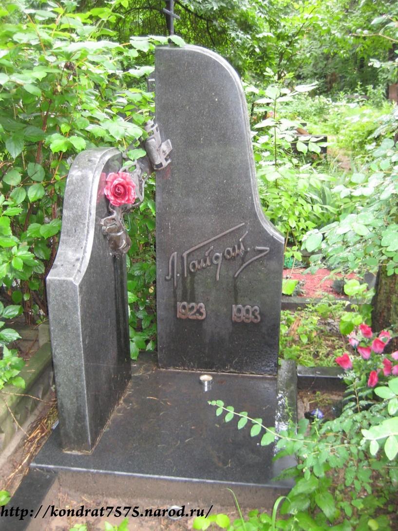 могила Леонида Гайдая на Кунцевском кладбище в Москве  (фото Дмитрия Кондратьева)