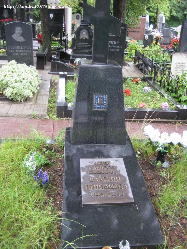могила Валерия Приёмыхова на Кунцевском кладбище в Москве  (фото Дмитрия Кондратьева)
