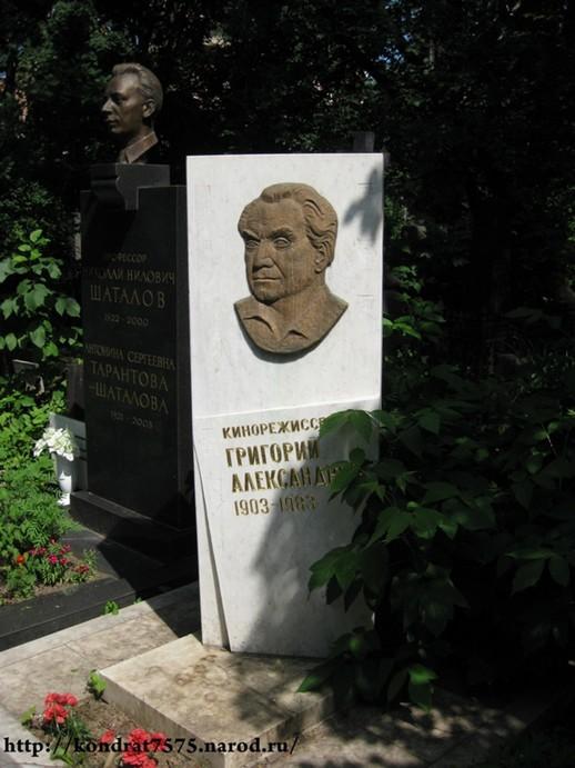 могила Григория Александрова на Новодевичем кладбище в Москве ( фото Дмитрия Кондратьева)