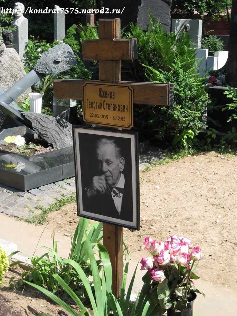 могила Георгия Жженого на Новодевичем кладбище в Москве  (вид могилы до установки памятника) (фото Дмитрия Кондратьева)