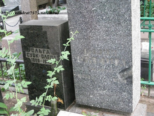 могила Юрия Олеши на Новодевичем клдабище в Москве ( фото Дмитрия Кондратьева)