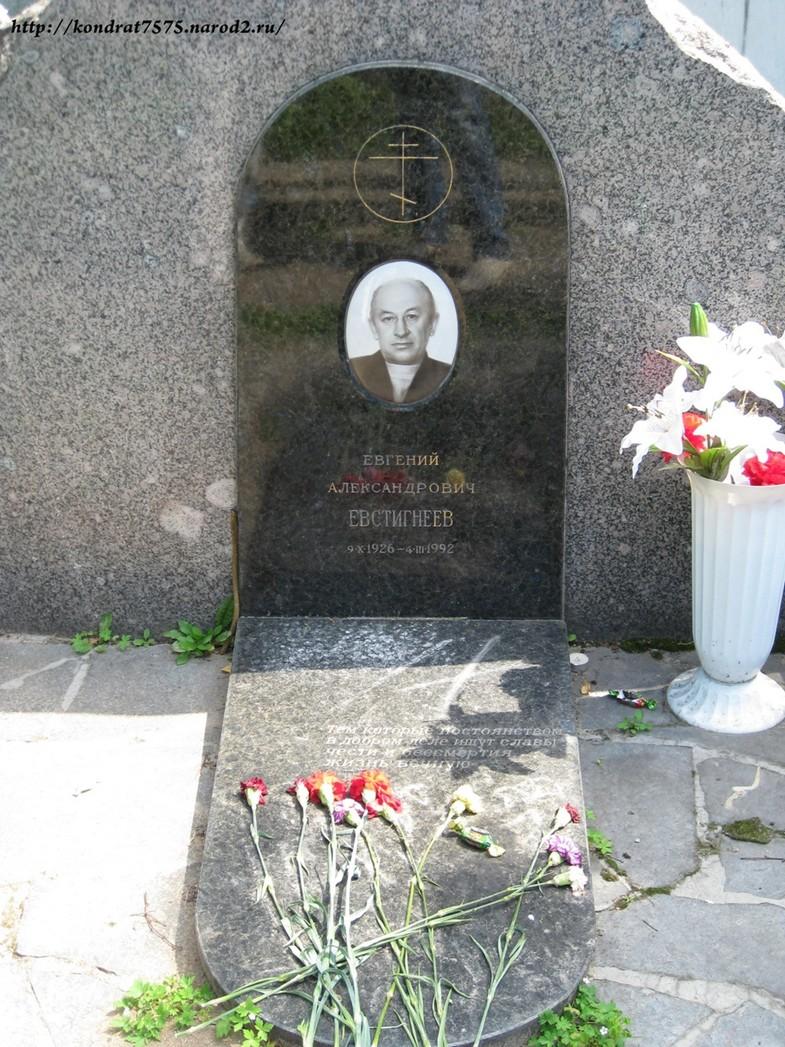 могила Евгения Евстигнеева на Новодевичем кладбище в Москве ( фото Дмитрия Кондратьева)