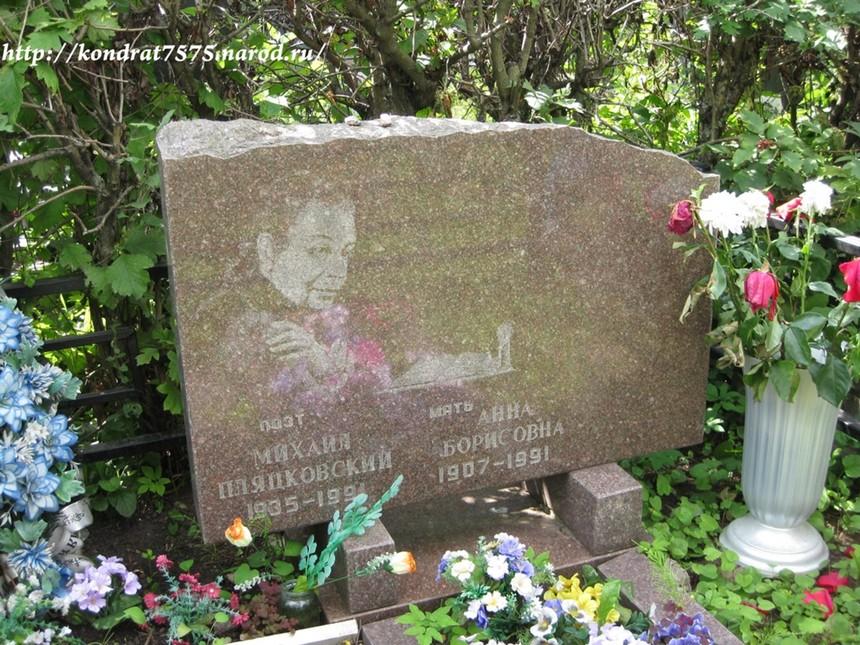 могила Михаила Пляцковского на Троекуровском кладбище в Москве (фото Дмитрия Кондратьева)