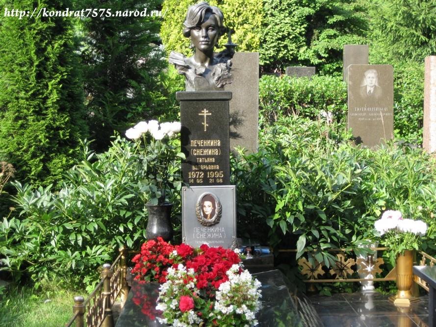 могила Татьяны Снежиной на Троекуровском кладбище в Москве  (фото Дмитрия Кондратьева)