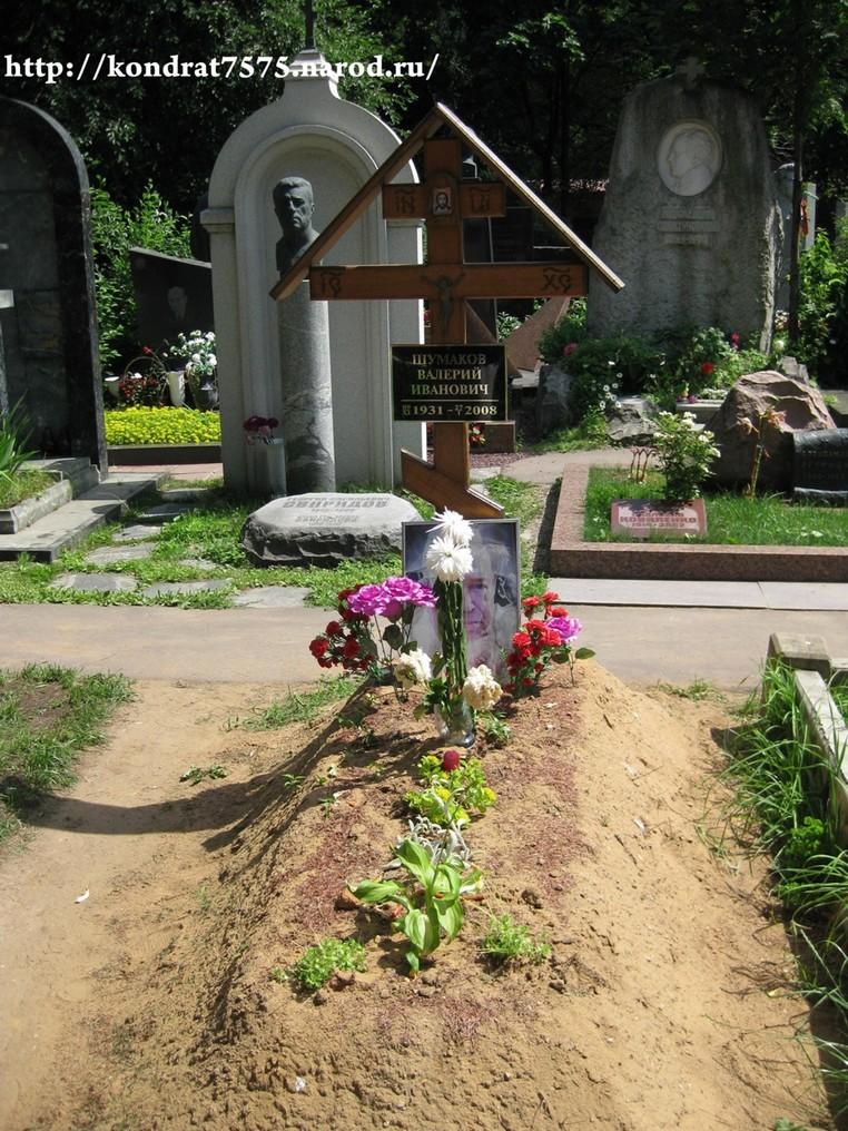 могила Валерия Шумакова на Новодевичем кладбище в Москве (вид могилы до установки памятника)(фото Дмитрия Кондратьева)