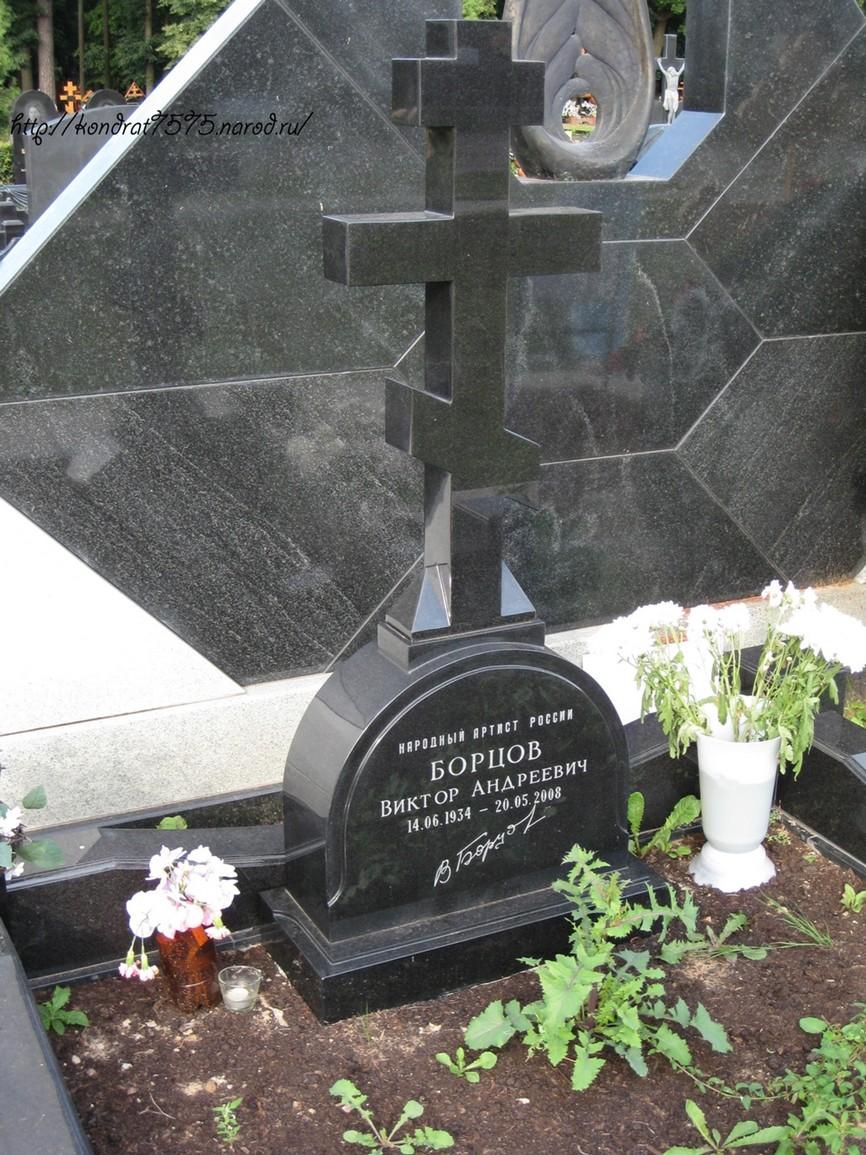 могила Виктора Борцова на Троекуровском кладбище в Москве  (фото Дмитрия Кондратьева)