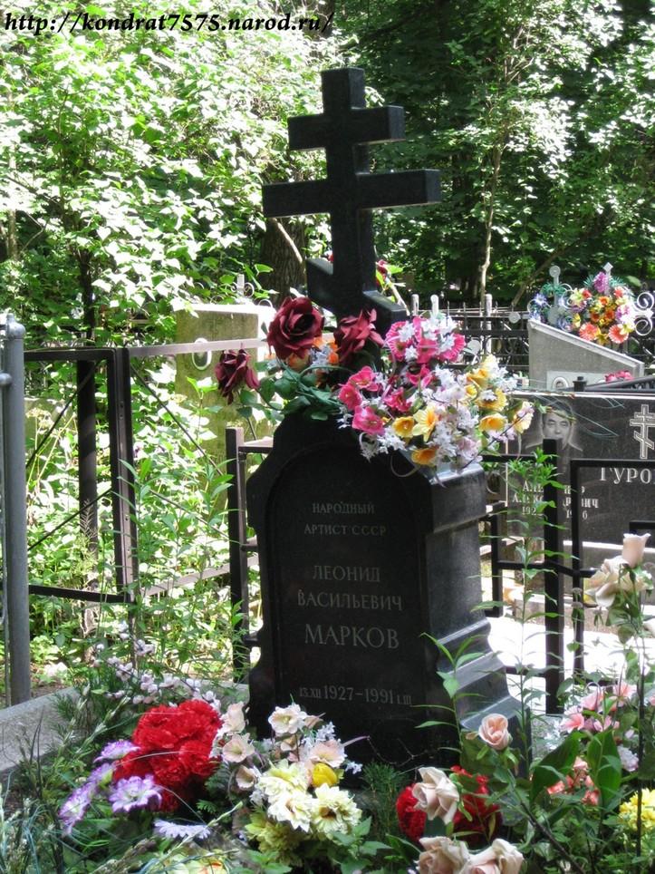 могила Леонида Маркова на Кузьминском кладбище в Москве ( фото Дмитрия Кондратьева )
