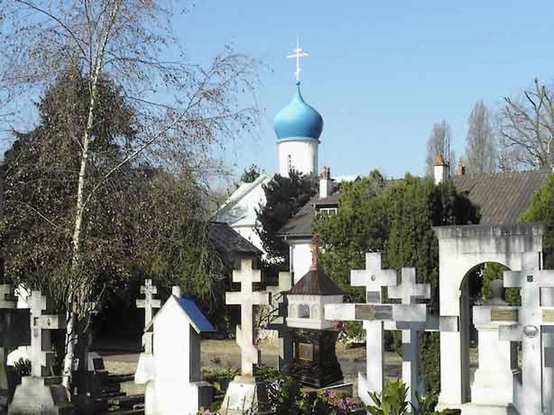 вид кладбища