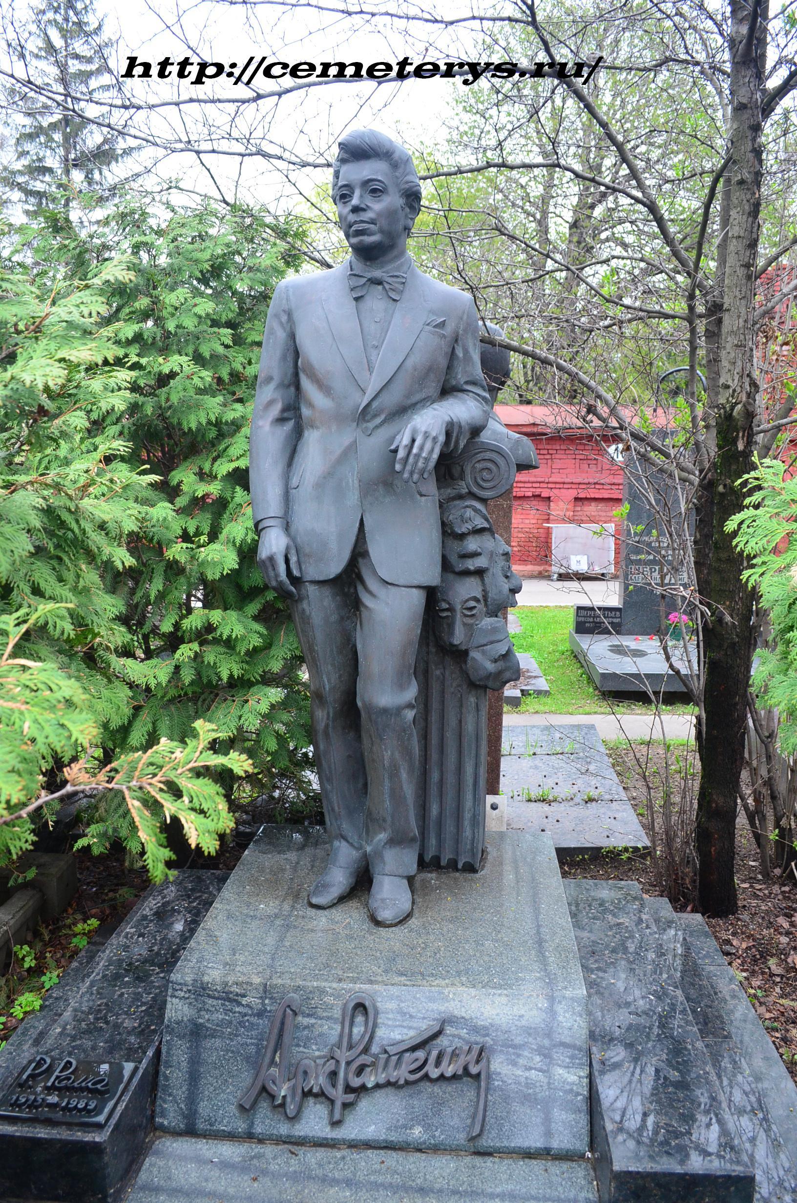 могила Аркадия Райкина на Новодевичем кладбище в Москве ( фото Дмитрия Кондратьева)