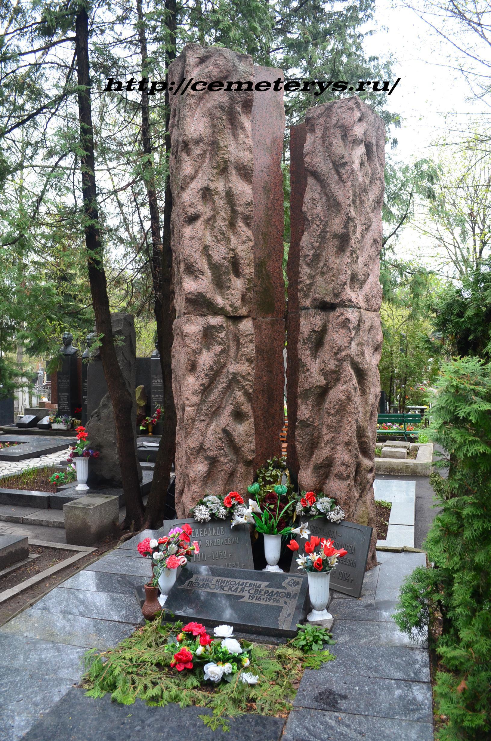 могила могила Андрея Свердлова на Новодевичем кладбище в Москве ( фото Дмитрия Кондратьева)