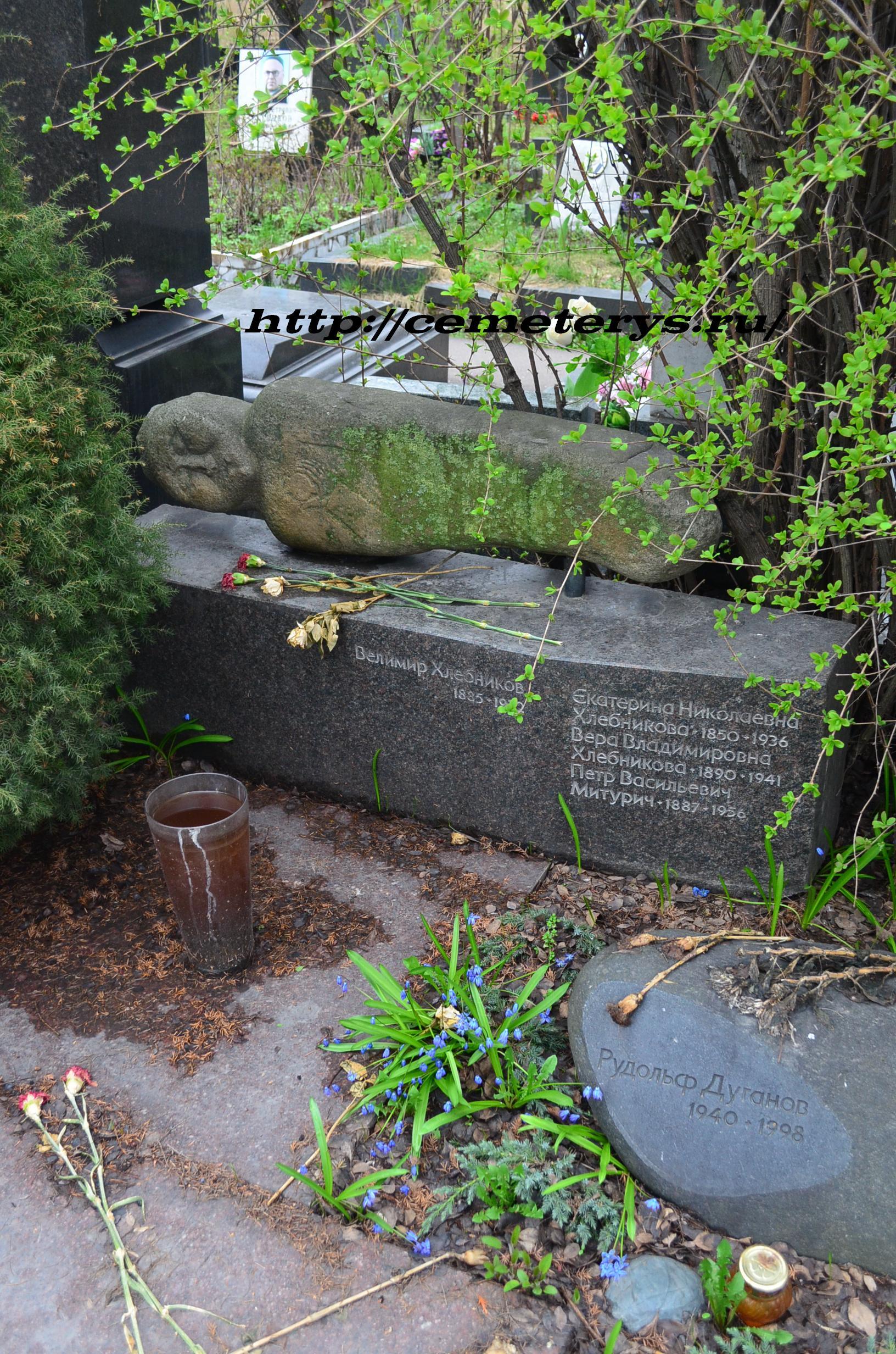 могила Велимира Хлебникова на Новодевичем кладбище в Москве ( фото Дмитрия Кондратьева)