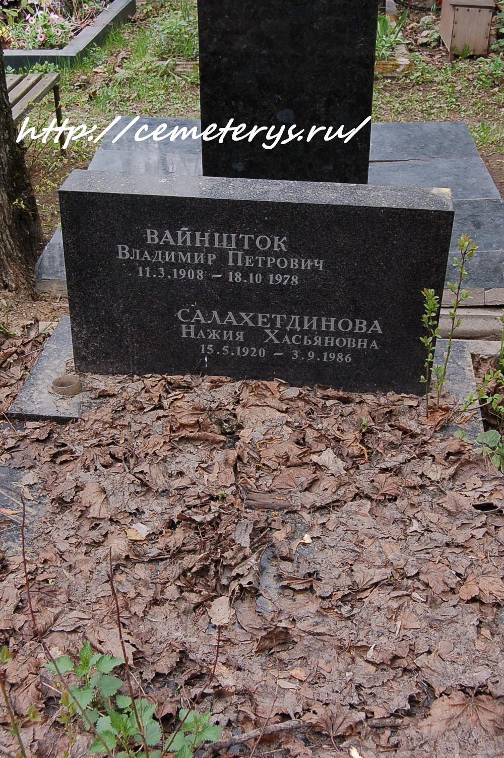могила Владимира Вайнштока на Кунцевском кладбище в Москве  (фото Дмитрия Кондратьева)