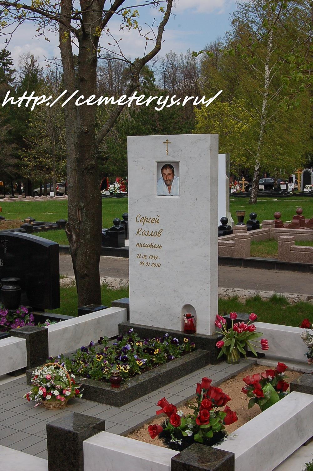 могила Сергея Козлова на Троекуровском кладбище в Москве  (фото Дмитрия Кондратьева)