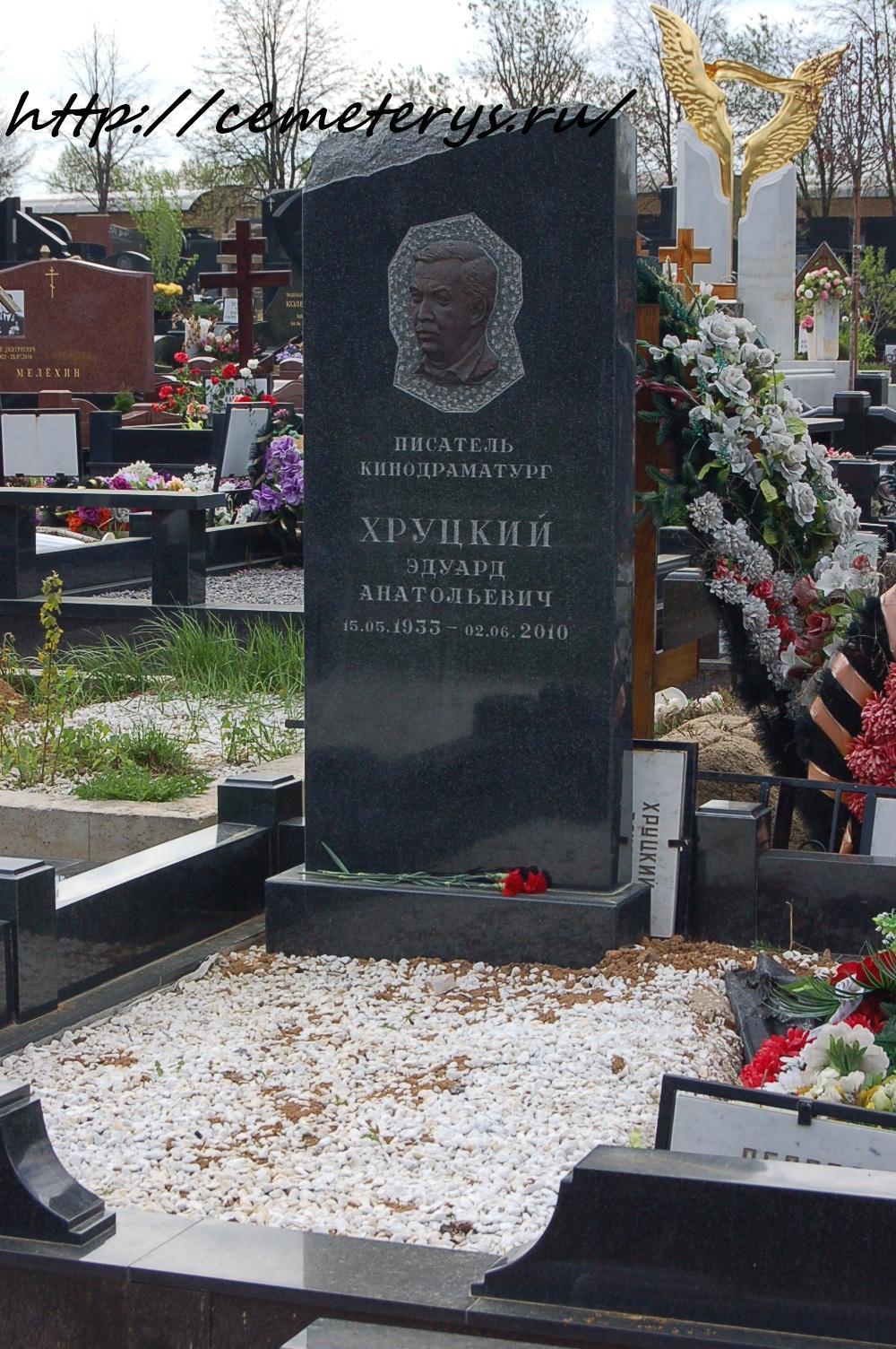 могила Эдуарда Хруцкого на Троекуровском кладбище в Москве ( фото Дмитрия Кондратьева)