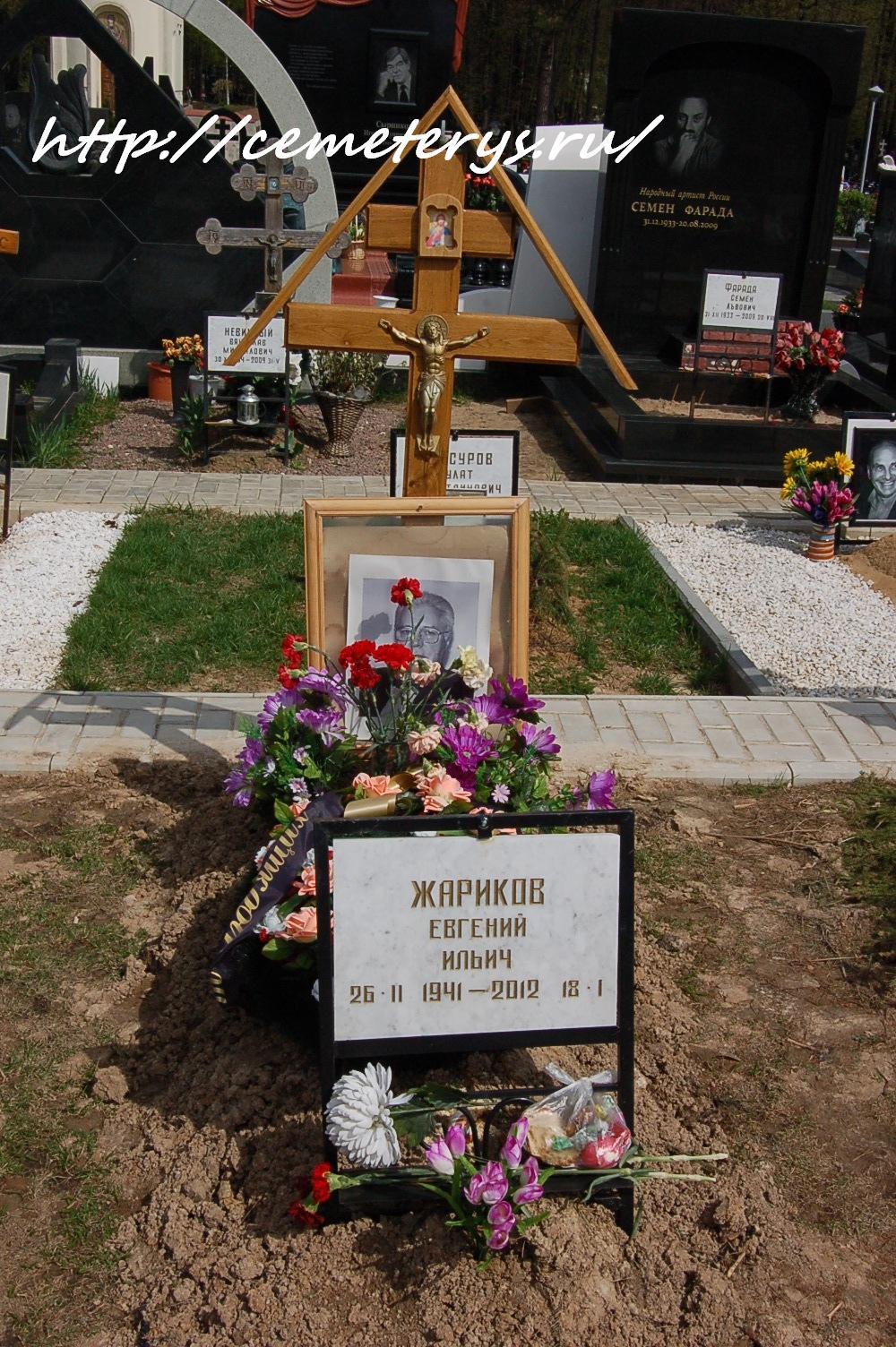 могила Евгения Жарикова на Троекуровском кладбище в Москве (вид могилы до установки памятника)( фото Дмитрия Кондратьева)