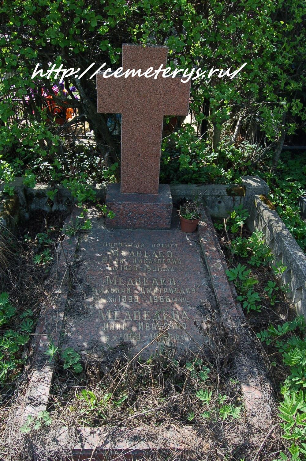 могила Юрия Медведева на Троекуровском кладбище в Москве ( фото Дмитрия Кондратьева)