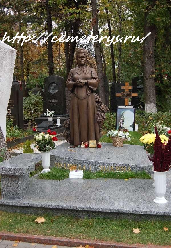 могила Людмилы Зыкиной на Новодевичем кладбище в Москве ( фото Дмитрия Кондратьева)