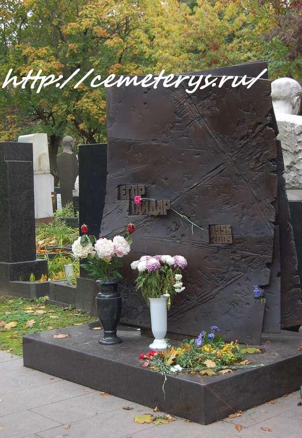 могила Егора Гайдара на Новодевичем кладбище в Москве ( фото Дмитрия Кондратьева)