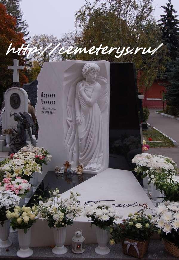 могила Людмилы Гурченко на Новодевичем кладбище в Москве ( фото Дмитрия Кондратьева)