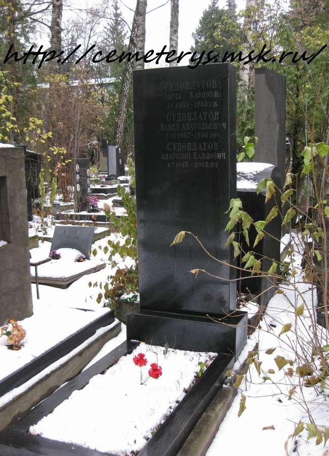 могила Павла Судоплатова на Донском кладбище в Москве ( фото Дмитрия Кондратьева)