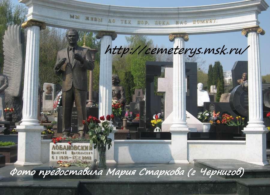 могила Валерия Лобановского на Байковом кладбище в Киеве  (фото Марии Старковой)