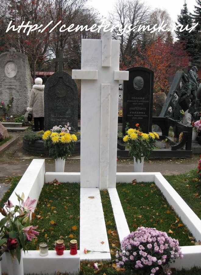фото могилы Олега Янковского на Новодевичем кладбище в Москве ( фото Дмитрия Кондратьева)
