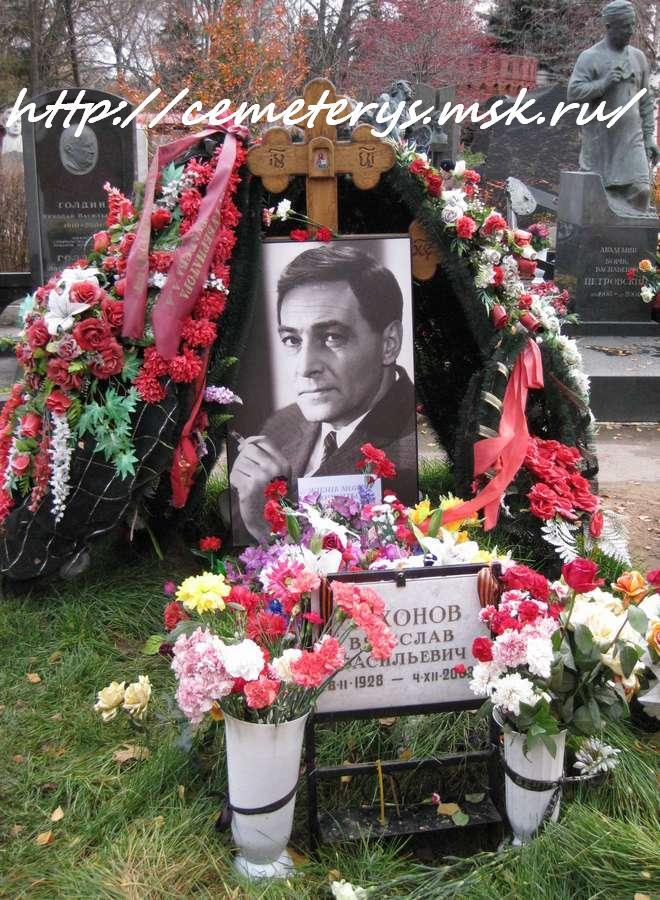 могила Вячеслава Тихонова на Новодевичьем кладбище в Москве ( фото Дмитрия Кондратьева)