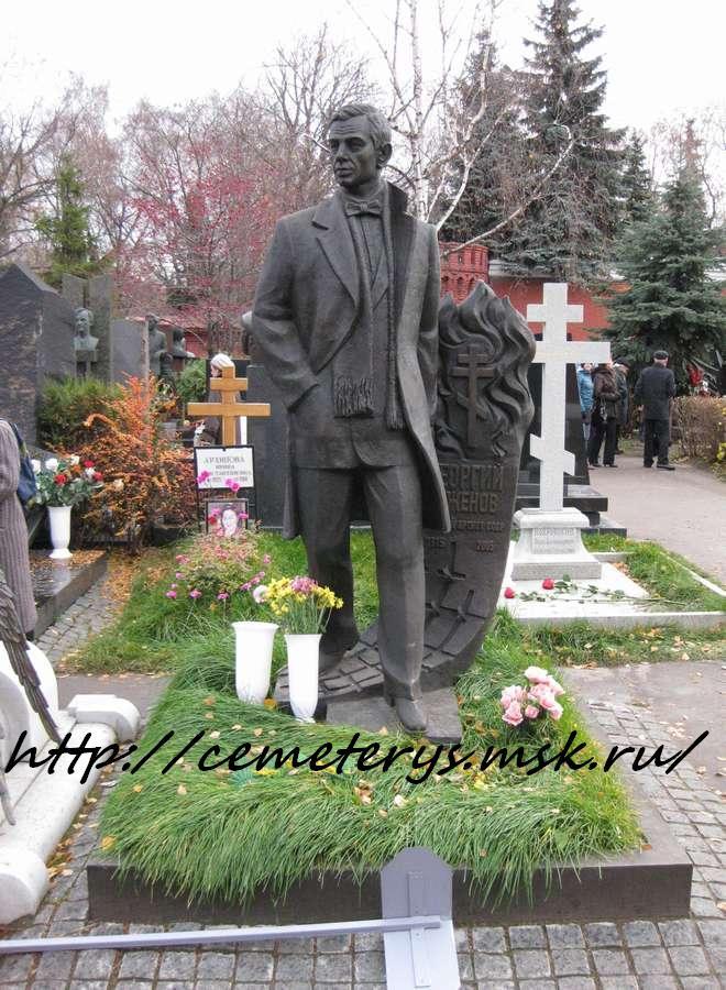 могила Георгия Жженого на Новодевичем кладбище в Москве (фото Дмитрия Кондратьева)