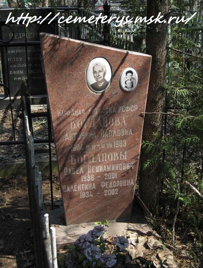 Могила Антонины Богдановой на Востряковском кладбище в Москве ( фото Дмитрия Кондратьева)