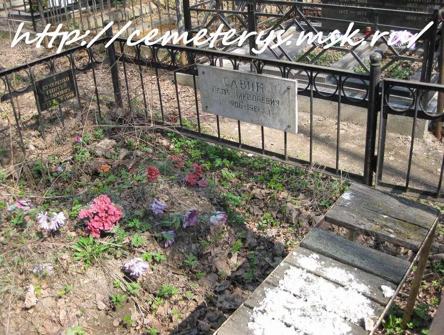 могила Петра Савина на Востряковском кладбище в Москве (фото Дмитрия Кондратьева)