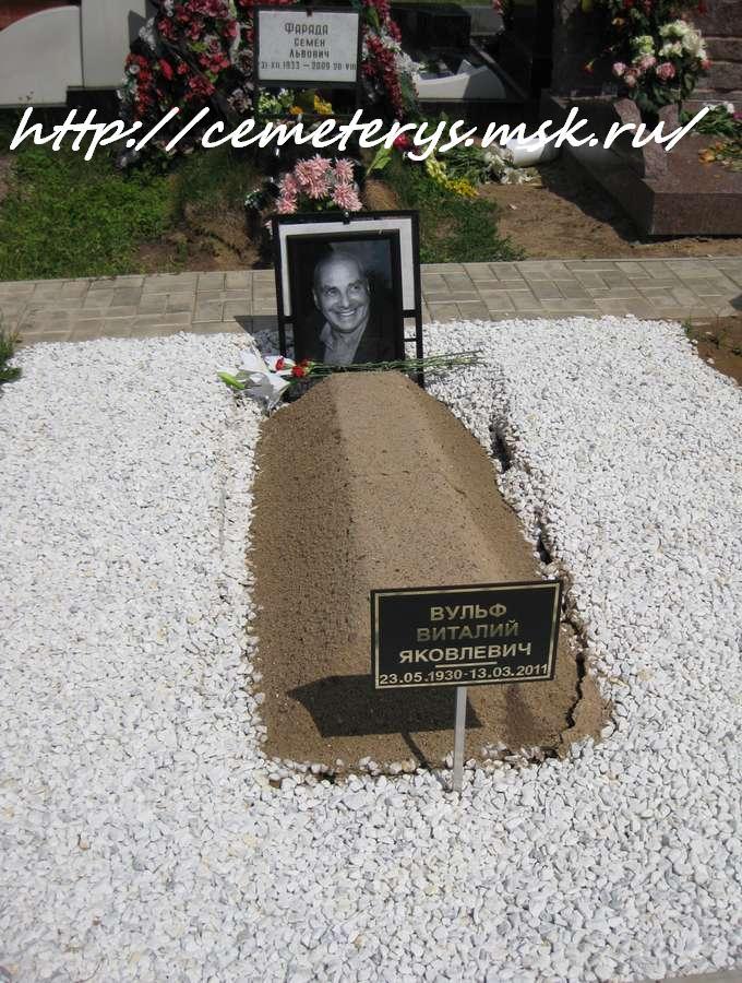 могила Виталия Вульфа на Троекуровском кладбище в Москве  (фото Дмитрия Кондратьева)