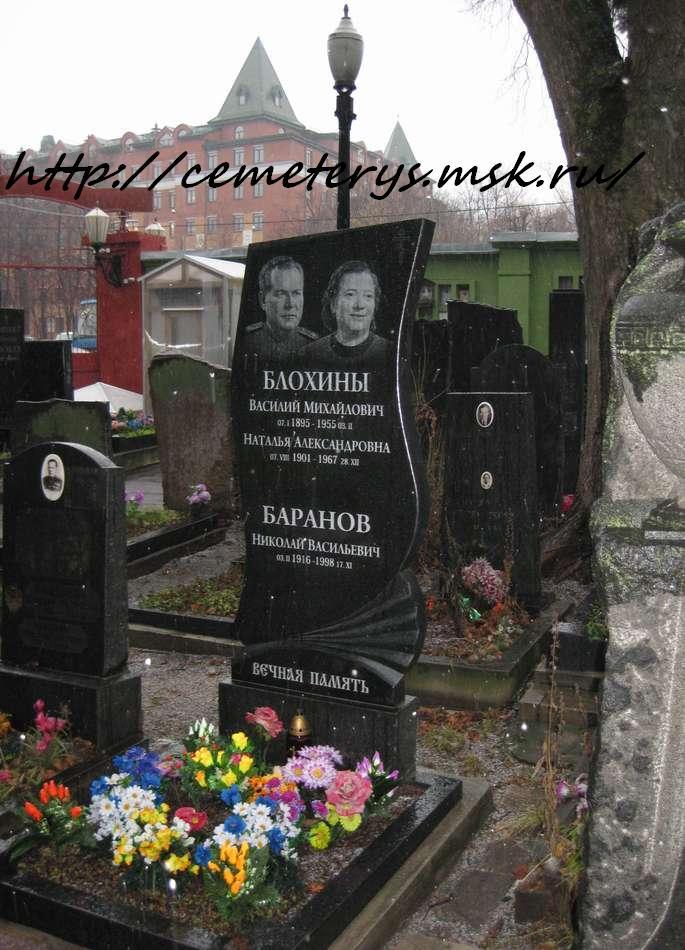 могила Василия Блохина на Донском кладбище в Москве ( фото Дмитрия Кондратьева)
