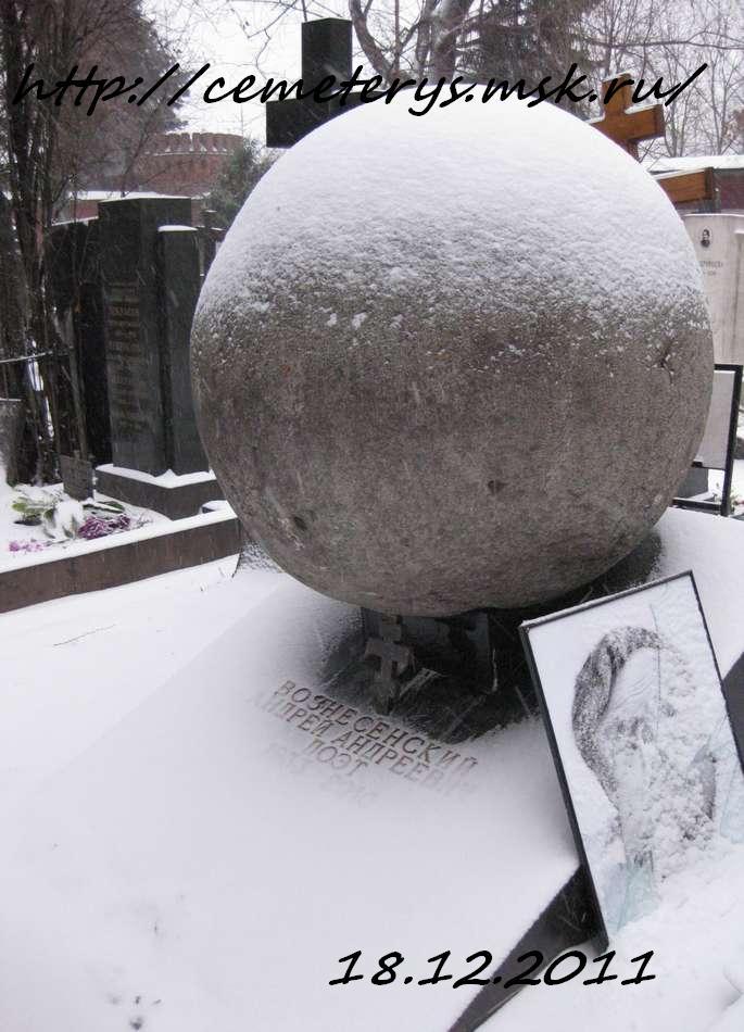фото могилы Андрея Вознесенского на Новодевичем кладбище в Москве ( фото Дмитрия Кондратьева)