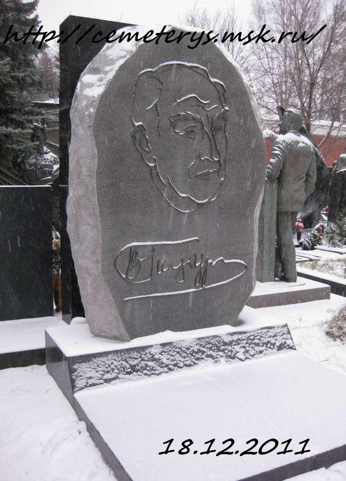 фото могилы Виталия Гинзбурга на Новодевичем Кладбище в Москве ( фото Дмитрия Кондратьева)