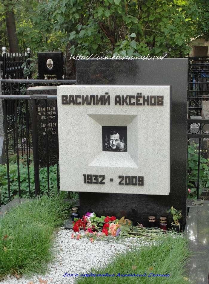 могила Василия Аксёнова ( фото Анатолия Скопина)
