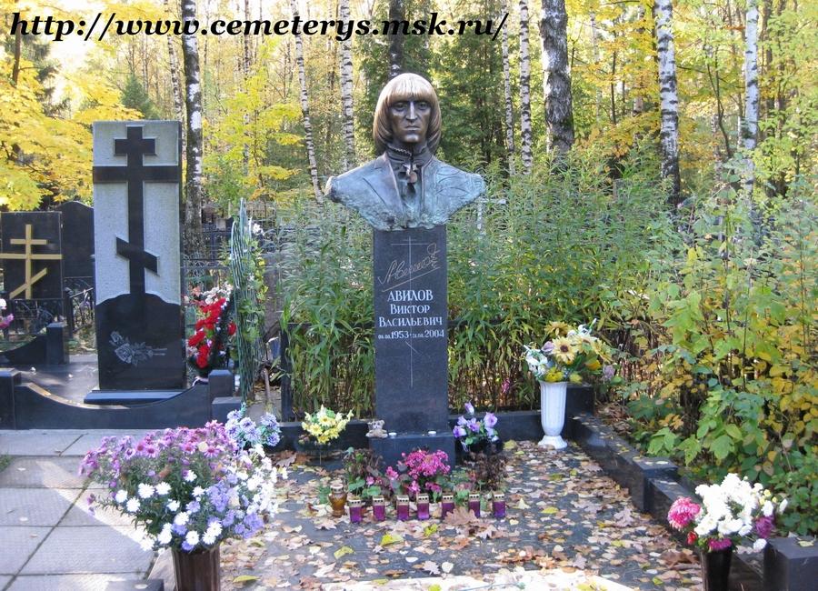 могила Виктора Авилова на Востряковском кладбище в Москве (фото Дмитрия Кондратьева)