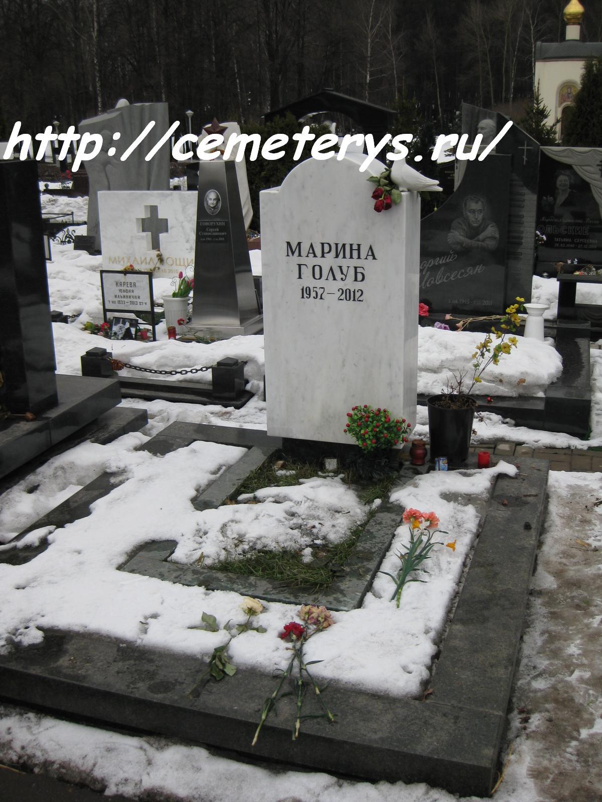 могила Марины Голуб на Троекуровском кладбище в Москве ( фото Дмитрия Кондратьева)