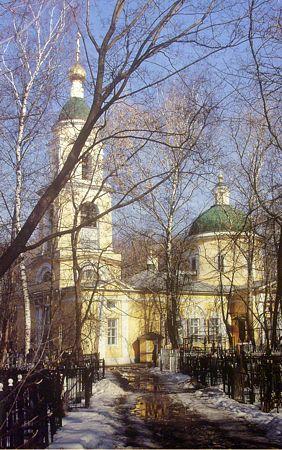 Храм на Ваганьковском кладбище