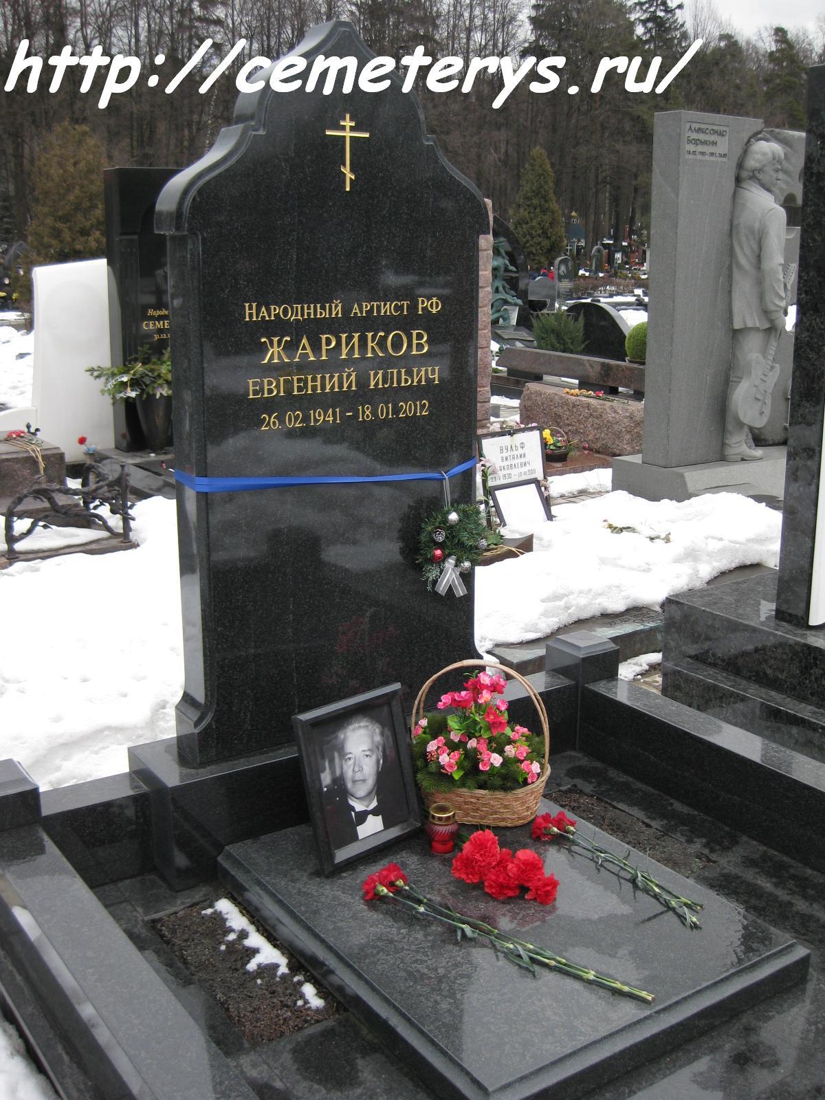 могила Евгения Жарикова на Троекуровском кладбище в Москве ( фото Дмитрия Кондратьева)