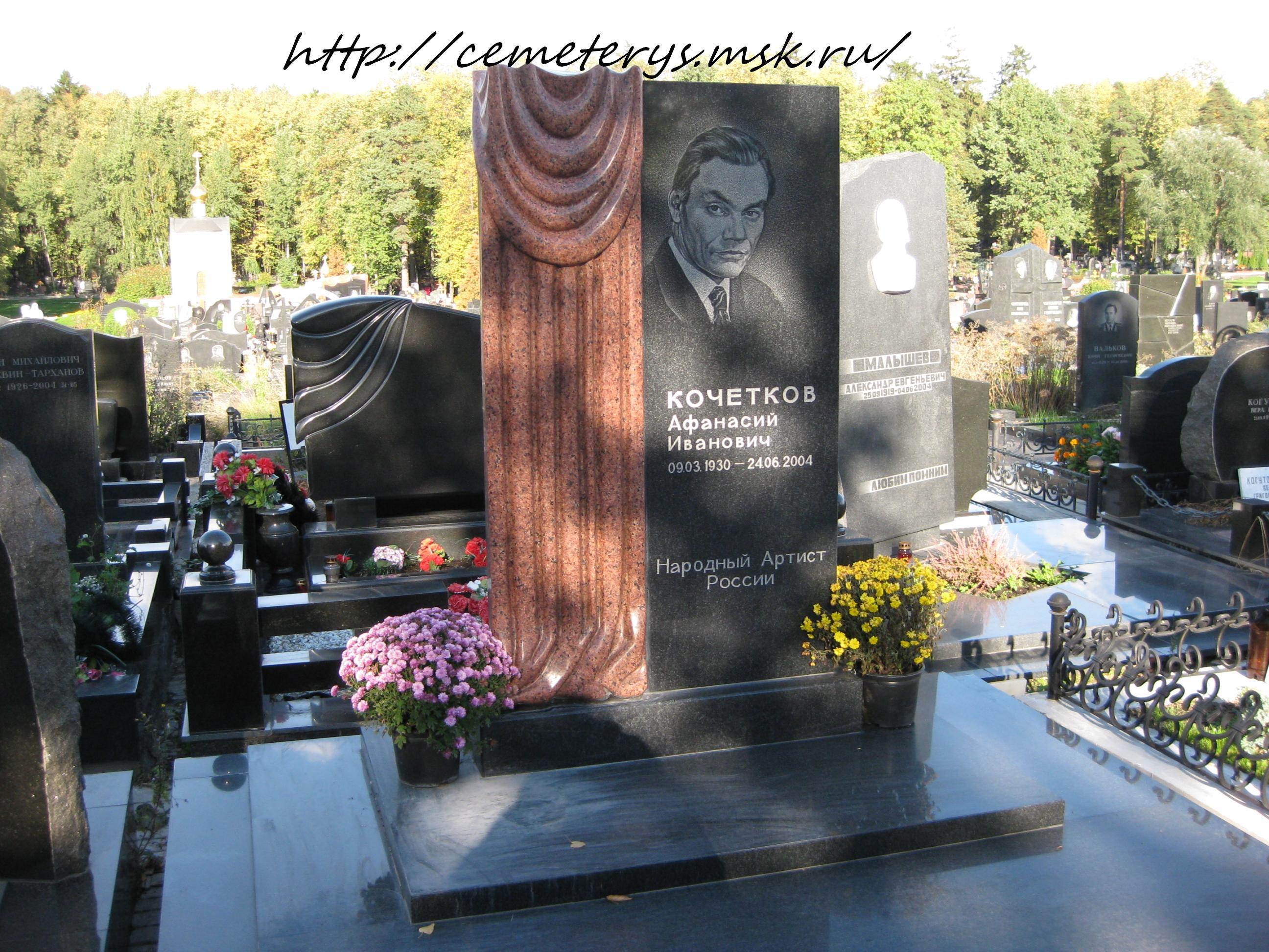 могила актёра Афанасия Кочеткова ( фото Дмитрия Кондратьева )
