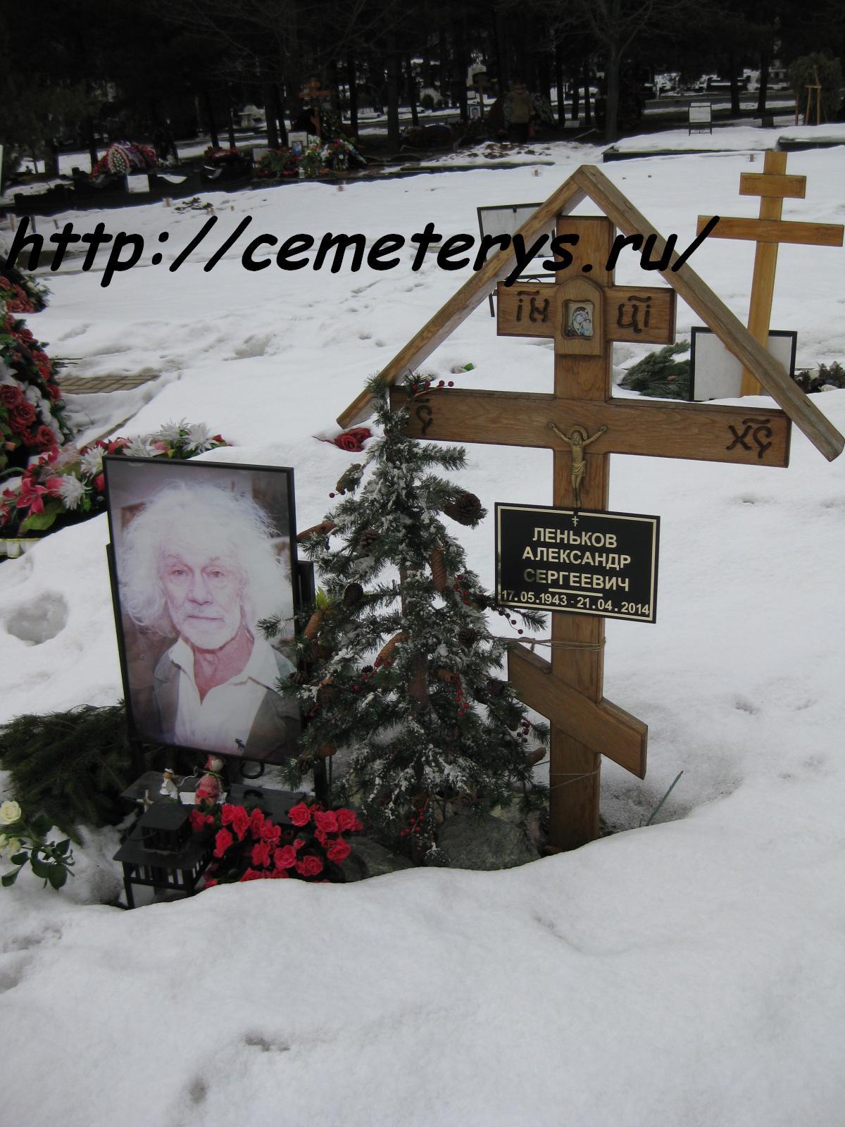 могила Александра Ленькова на Троекуровском кладбище в Москве  (фото Дмитрия Кондратьева)