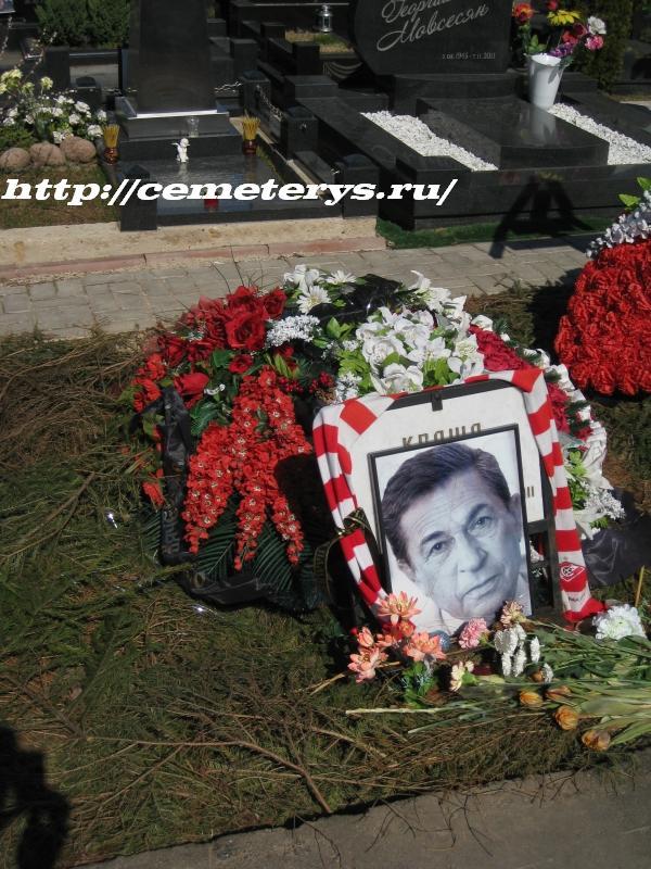 могила Игоря Кваши на Троекуровском кладбище в Москве (вид могилы до установки памятника)( фото Дмитрия Кондратьева)