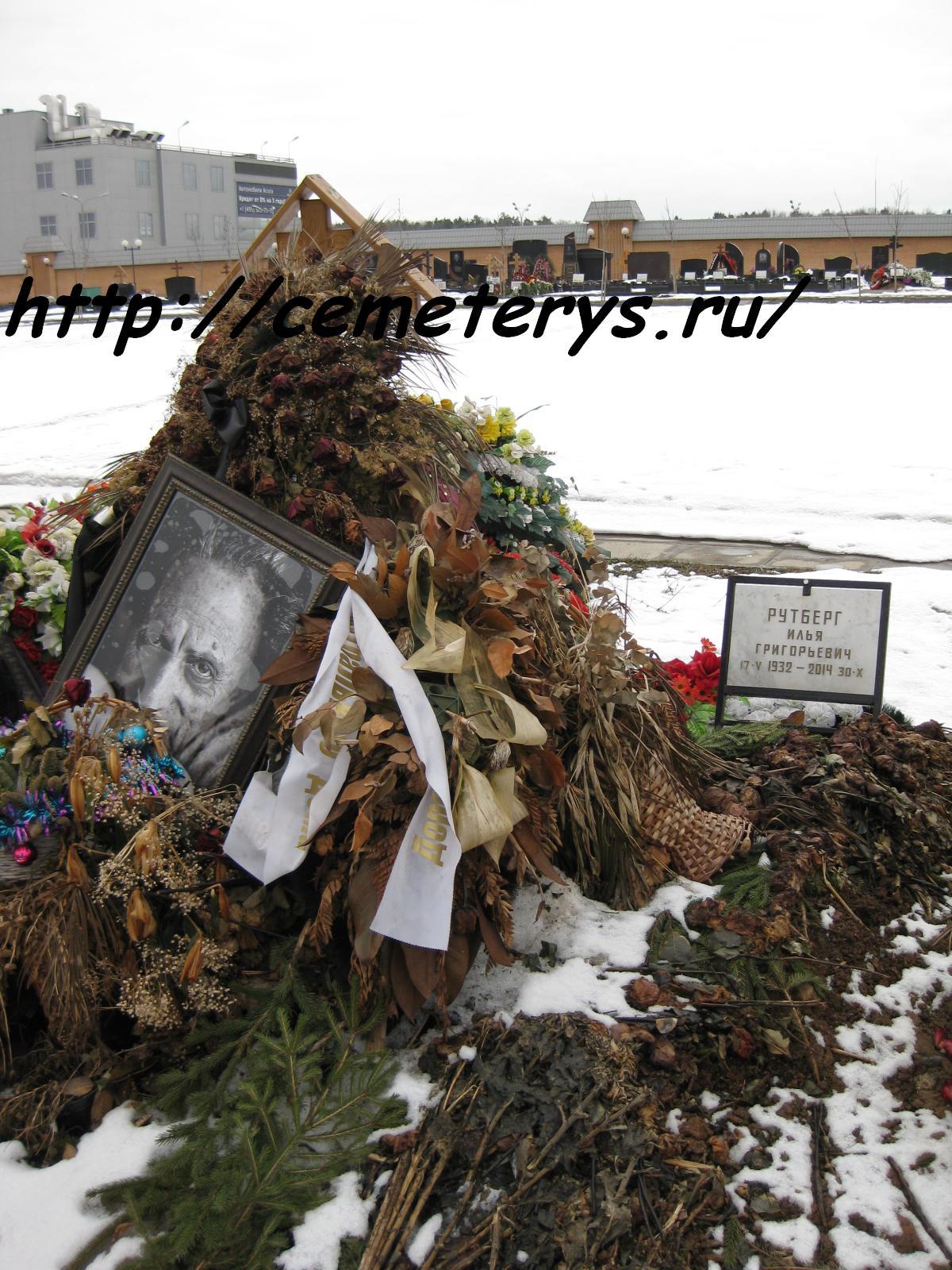 могила Ильи Рутберга на Троекуровском кладбище в Москве ( фото Дмитрия Кондратьева)