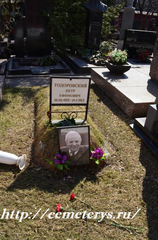 могила Петра Тодоровского на Новодевичем кладбище в Москве ( фото Дмитрия Кондратьева)