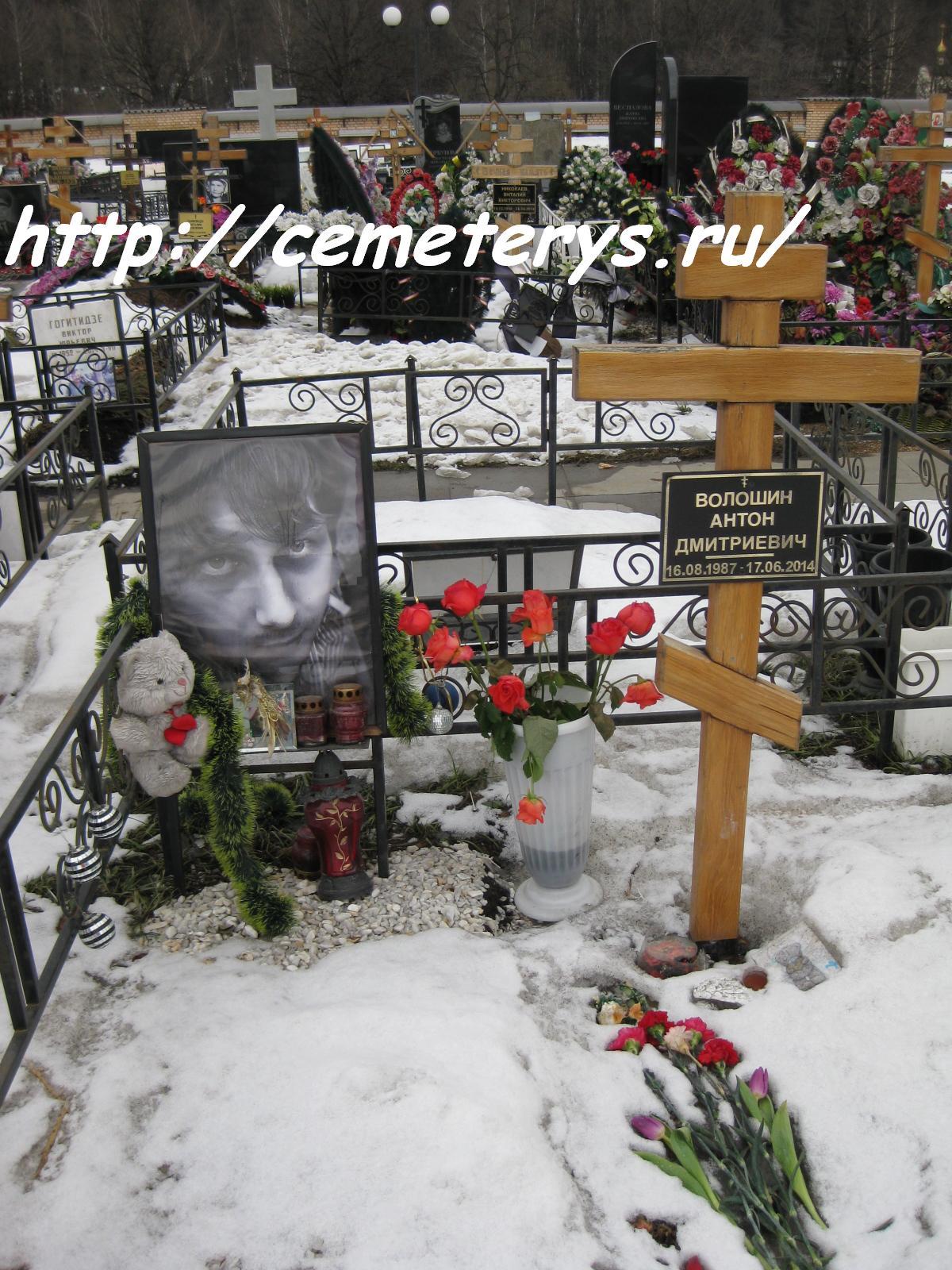 могила журналиста Антона Волошина на Троекуровском кладбище в Москве ( фото Дмитрия Кондратьева)