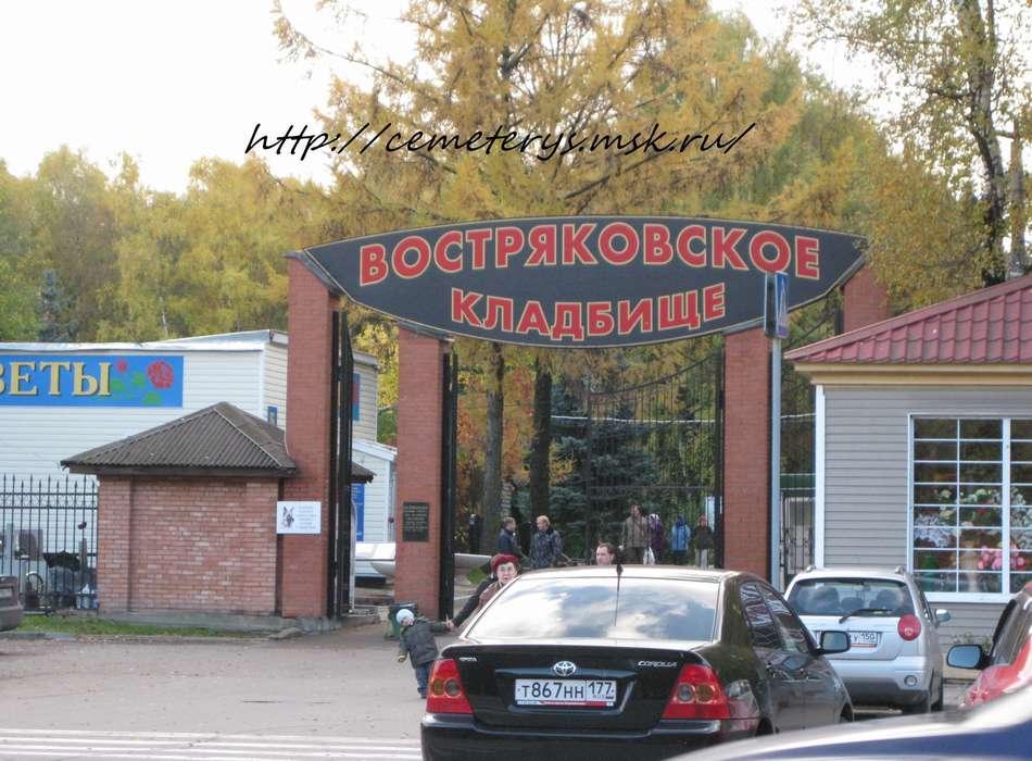 Схема Востряковского кладбища.