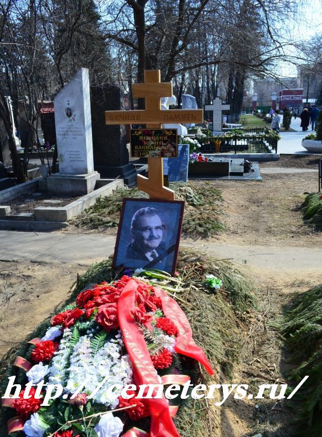 могила Юрия Яковлева на Новодевичем кладбище в Москве ( фото Дмитрия Кондратьева)